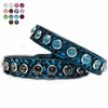 Turquoise Dragon Leather Small Dog Collars | Cat Collars