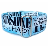 You Are My Sunshine Martingale Dog Collar