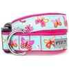 Pink Butterflies Dog Collar | Nylon
