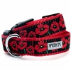 Pretty Poppy Flowers Dog Collar