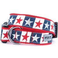 Stars and Stripes Dog Collar and Leash | Nylon