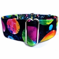 Planets and Stars Martingale Greyhound Dog Collar