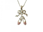 Ballet Slippers Rhinestone Necklace - You Go Girl! Dancewear