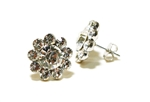 Rhinestone Solitaire in circle of Rhinestones - You Go Girl! Dancewear