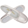 Metallic Silver Adult Ballet Slippers by Trimfoot - You Go Girl! Dancewear