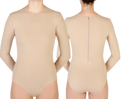 8f11bb710f Baltogs Custom Made Child Long Sleeve Crew Neck Leotard with Back Zipper - You  Go Girl Dancewear