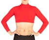 Baltogs Custom Made Adult Lycra Long Sleeve Mock Neck Crop Top with Back Zipper