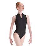 Baltogs Adult Plus Size Long Torso Zip-Front Mock-T High-Cut Leotard