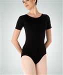 Body Wrappers Plus Size Short Sleeve Leotard