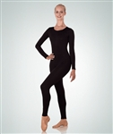 Body Wrappers Plus Size High Neck Long Sleeve Nylon Unitard