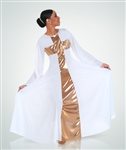 Body Wrappers Girl's Praise Long Dress Cross Component -
