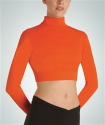 Body Wrappers Child Long Sleeve Turtleneck Midriff