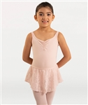 Body Wrappers Girls Mesh Flowers Solid Camisole Leotard