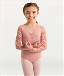 Body Wrappers Girls Mesh Flower Solid Matte Nylon Leotard
