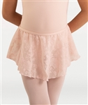 Body Wrappers Girls Flower Mesh Tapered Skirt
