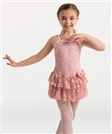 Body Wrappers Girls Mesh Flower Dance Dress