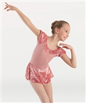 Body Wrappers Girls Extended Shoulder Skirted Leotard Dress
