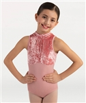 Body Wrappers Girls Sleeveless Mock Neck Leotard