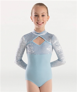 Body Wrappers Girls Long Sleeve Mock Neck Leotard