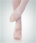 Body Wrappers Adult totalSTRETCH Peach Low Front Vamp Canvas Ballet Slipper - 247A