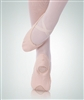 Body Wrappers Child totalSTRETCH Peach Low Front Vamp Canvas Ballet Slipper - 247C