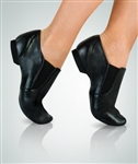 Body Wrappers Black Leather/Neoprene Seamless Split Sole Jazz Shoe