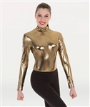 Body Wrappers Tween Metallic Long Sleeve Leotard