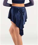 Body Wrappers Tween Short Tapered Satin Skirt
