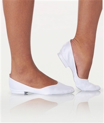 Body Wrappers Adult White Satin Foldable Slipper - You Go Girl Dancewear