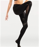 Body Wrappers Adult Mesh Insert Stirrup Pant