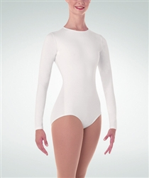 Body Wrappers Plus Size Long Sleeve High Neck Leotard