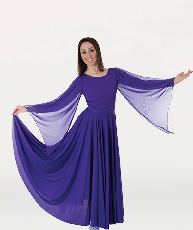 Body Wrappers Womens Plus Size Praise Dance Extra Full Long
