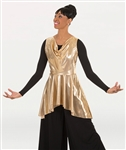 Body Wrappers Adult Metallic Sleeveless Pullover