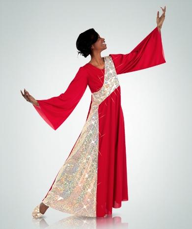 f085314b6bd Body Wrappers Women s Plus Size Asymmetrical Stained Glass Dress - You Go  Girl Dancewear