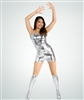 Body Wrappers Mercury Silver Metallic Hot Shorts