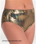 Body Wrappers Adult and Child Gold Trendy Dance Brief