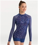 Body Wrappers Adult Dancing Sequin Baseball Pullover