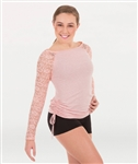 Body Wrappers Adult Long Sleeve Pullover w/ Lace Sleeves