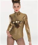 Body Wrappers Adult Metallic Long Sleeve Leotard