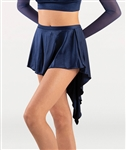 Body Wrappers Adult Short Tapered Satin Skirt