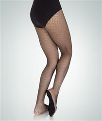 Body Wrappers Women's Professional Seamless Fishnet Dance Tights - You Go Girl Dancewear