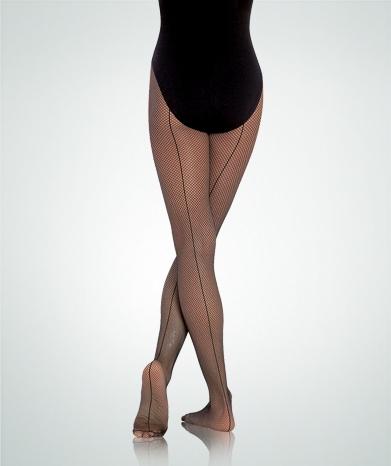 2d012561b1dd3 Body Wrappers Girls' Seamed Fishnet Tights - You Go Girl Dancewear