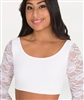 Body Wrappers Lace long Sleeve Scoop Neck Bra Top for girls and adults - You Go Girl Dancewear