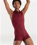 Body Wrappers Mens Zip Front Cut-In Back Muscle Tank Pullover