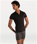 Body Wrappers Mens Zip Front Short Muscle Sleeve Pullover