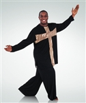 Body Wrappers Men's White with Gold Cross Component -