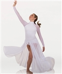 Body Wrappers Tween MicroTECH Long Sleeve Mock Neck Dance Dress
