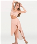 Body Wrappers Adult Asymmetrical Slit Skirt