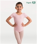 Body Wrappers Girls Organic Cotton Short Sleeve Leotard
