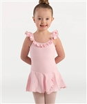 Body Wrappers Girls Organic Cotton Cross Back Camisole Dance Dress